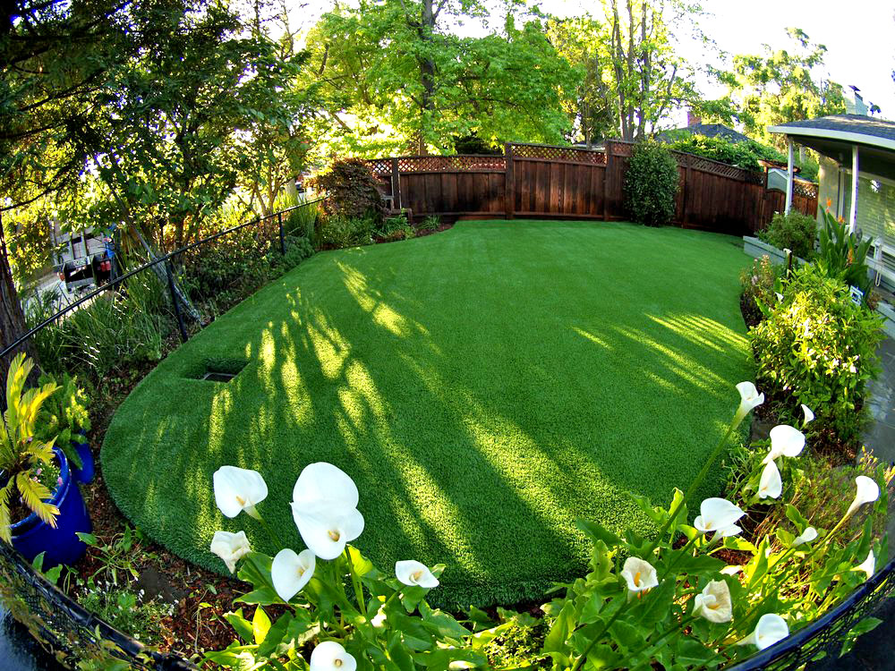 Artificial Lawn Surrounded By Colorful Landscape Artificial Lawn With  Drainage System Surrounded By Landscape ...