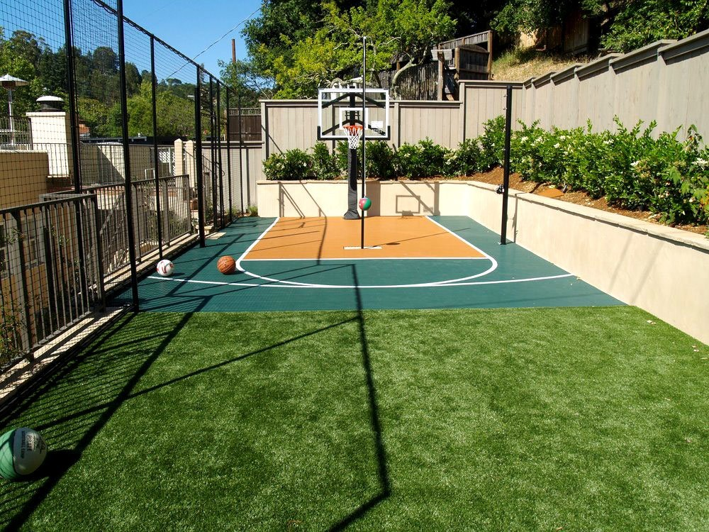 Artificial or synthetic grass sports fields installation for Sport court