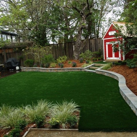 Marin County artificial synthetic grass playground