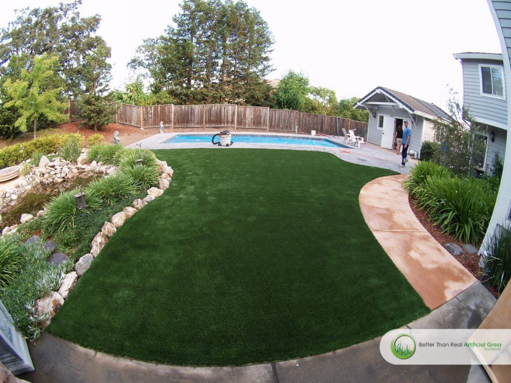 Swimming Pool Artificial Turf : Artificial grass around swimming pools projects in california