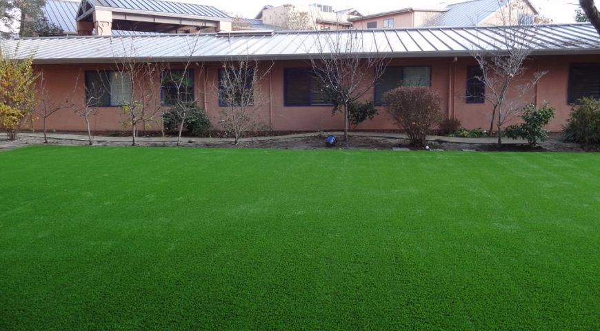 Synthetic grass commercial application in Oakland