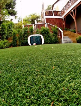 Artificial turf installed for a playground area
