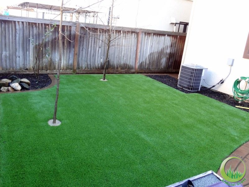 Backyard with a concrete patio in Fairfield, California