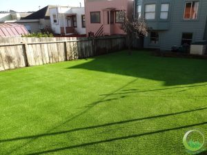 Artificial synthetic turf installed in the front yard and backyard in San Francisco, CA