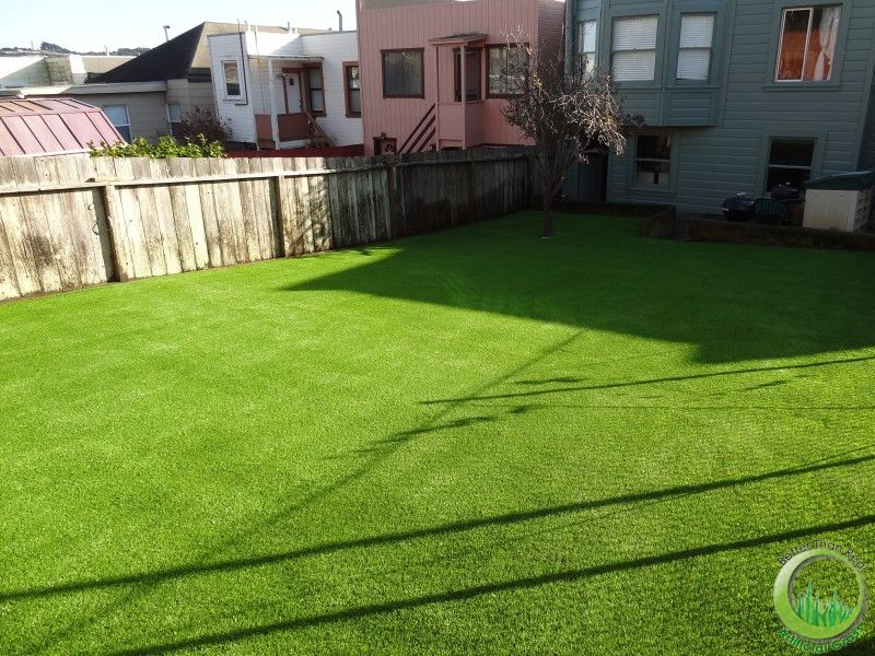 Front yard and backyard in San Francisco, California