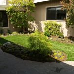 Artificial turf & sod in a backyard in Bay Area (after)