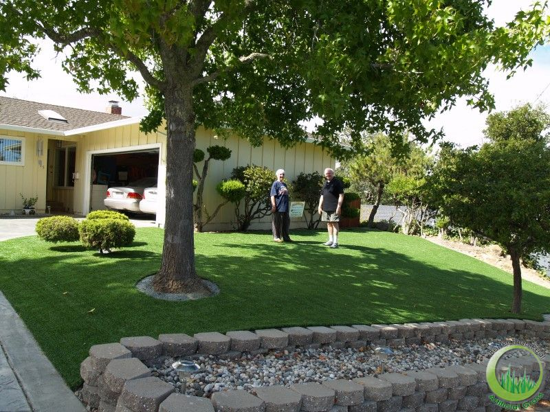 Artificial Grass Front Lawn Novato California