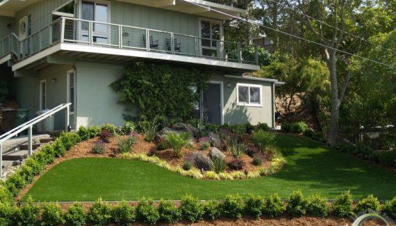 Front yard Belvedere after artificial grass