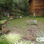 Artificial grass installation (before)