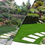 Synthetic grass gardens: before and after