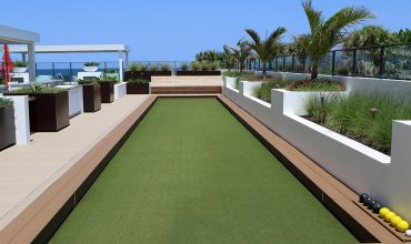 Artificial grass on rooftops