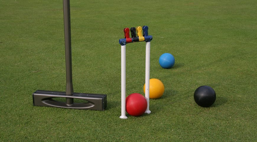 Artificial turf for croquet courts