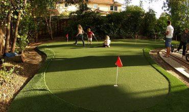 Artificial Grass Putting Green Installation