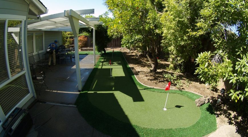Looking for an artificial grass putting green in your home? Check these previous projects