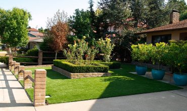Artificial grass landscaping in San Jose, California