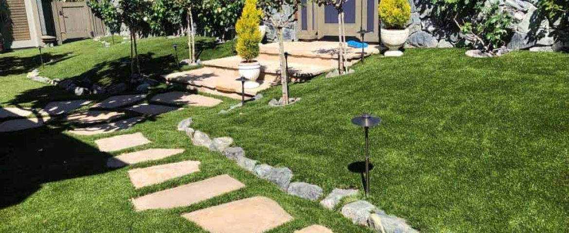 Artificial grass installation service for landscaping and gardens