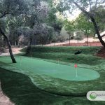 Artificial putting green in Corte Madera, California