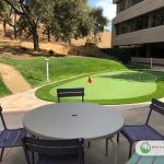 Artificial putting green installation in San Anselmo California