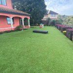 Artificial grass installation for backyard in Tiburon, San Francisco CA