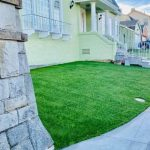 Front yard artificial grass installation in San Francisco - After