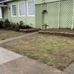 Front yard artificial grass installation in San Francisco - Before