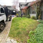 Synthetic turf installation for front yard in San Francisco, California - before