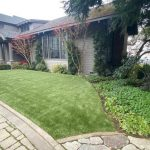 Synthetic turf installation for front yard in San Francisco, California - after