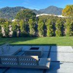 Backyard fake lawn project in Corte Madera, Marín County, San Francisco, California