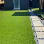 Fake grass project for a backyard in Novato, Marin County, California