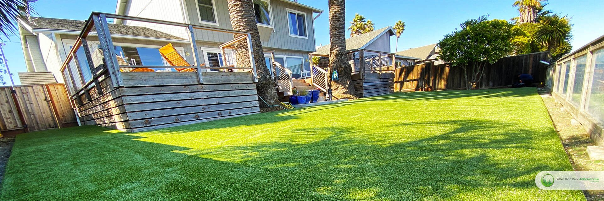 Artificial grass installation Seaside project