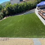 Synthetic grass garden and backyard
