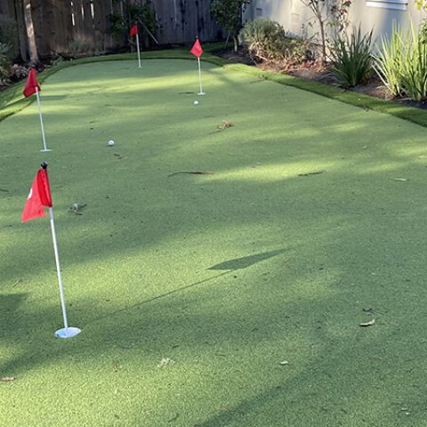Artificial Grass Putting Green Installation in San José