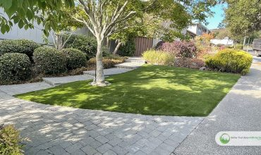 Synthetic Grass Installation in the garden