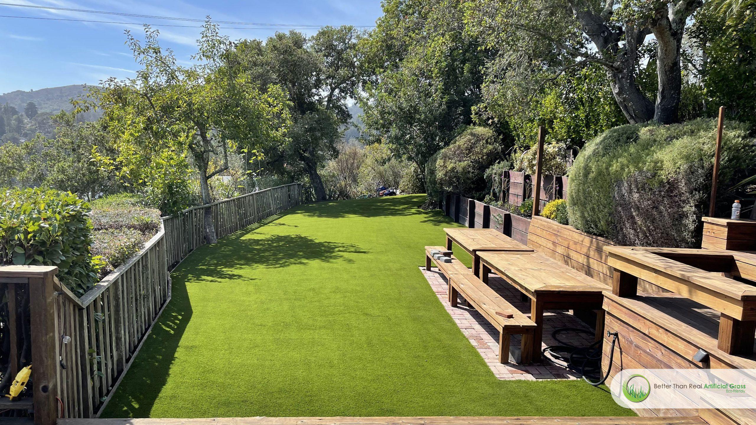 Artificial grass installation in California